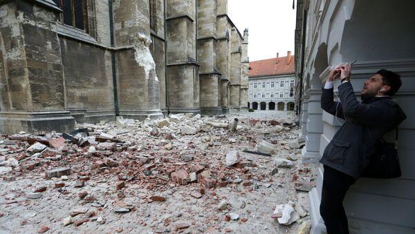 Центар хрватске престонице у рушевинама - Sputnik Србија