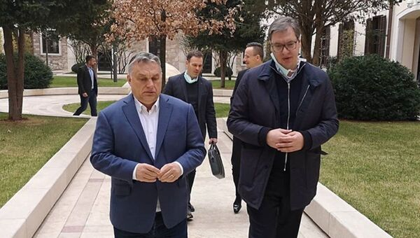 Aleksandar Vučić i Viktor Orban - Sputnik Srbija