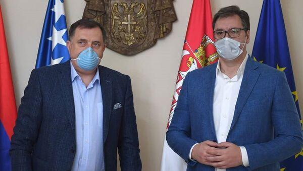 Милорад Додик и Александар Вучић - Sputnik Србија