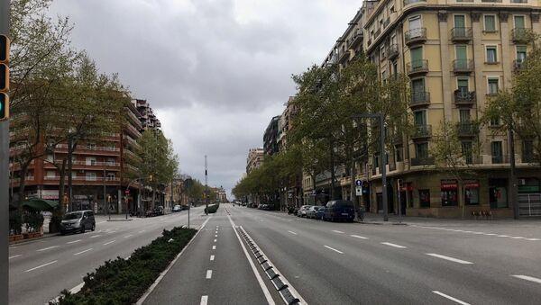 Prazne ulice Barselone u vreme vanrednog stanja - Sputnik Srbija