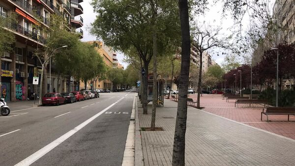 Prazne ulice Barselone u vanredno stanje - Sputnik Srbija