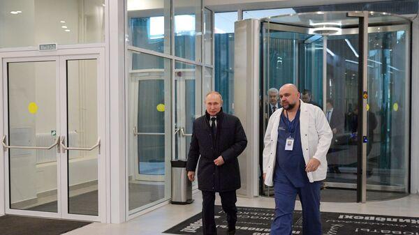 Посета председника Русије Владимира Путина болници у којој се налазе пацијенти заражени вирусом корона - Sputnik Србија