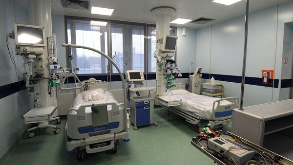Одељење за реанимацију у болници у Москви за пацијенте заражене вирусом корона КОВИД-19 - Sputnik Србија