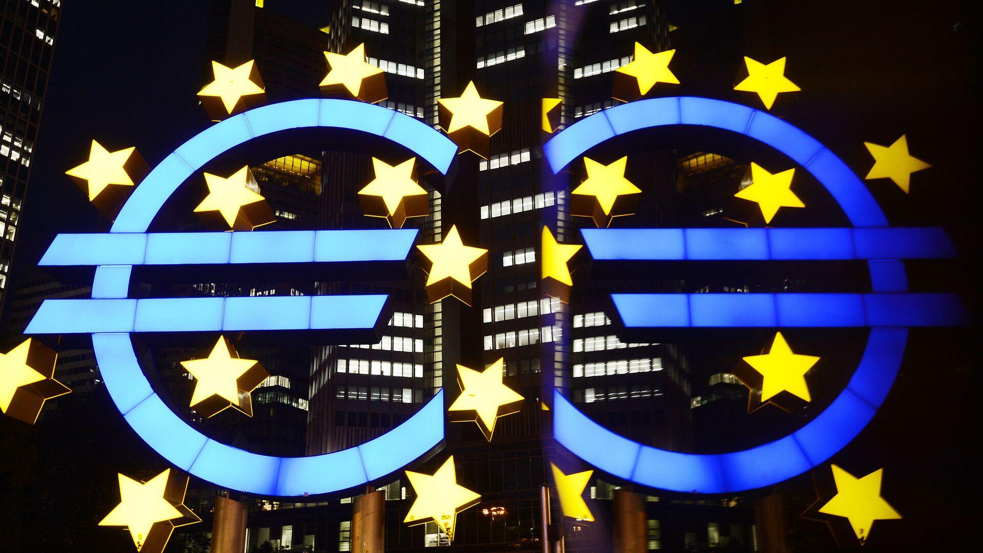 Logo Centralne evropske banke u Frankfurtu - Sputnik Srbija, 1920, 23.07.2021