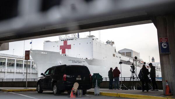 """""""Плутајућа болница"""" стигла у пристаниште у Њујорк - Sputnik Србија"""