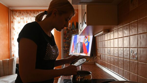 Vladimir Putin se obraća građanima Rusije - Sputnik Srbija