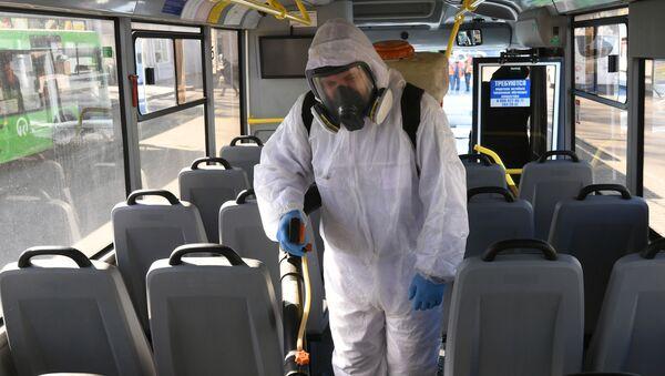 Dezinfekciя obщestvennogo transporta v Krasnoяrske - Sputnik Srbija