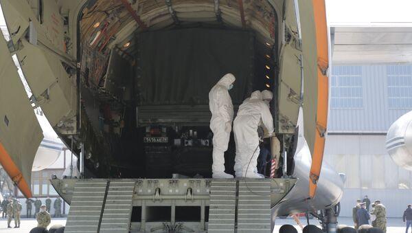 Pomoć iz Rusije stigla na aerodrom u Batajnici - Sputnik Srbija