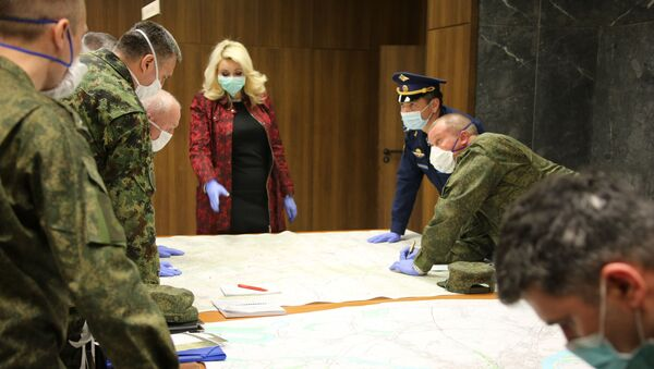 Ruski vojnici na VMA u pomoći Srbiji u borbi protiv virusa korona - Sputnik Srbija