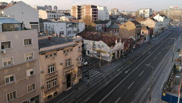 Прво недељно јутро у центру Београда у време полицијског часа који траје од суботе од 13.00 до понедељка у 5.00 - Sputnik Србија