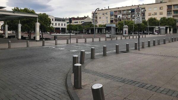 Pusta ulica u Podgorici - Sputnik Srbija