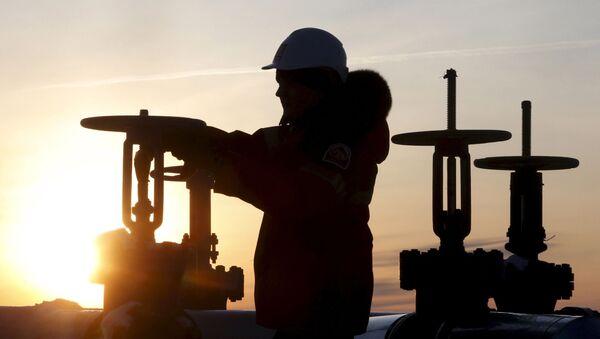 Radnik proverava cevi naftovoda - Sputnik Srbija
