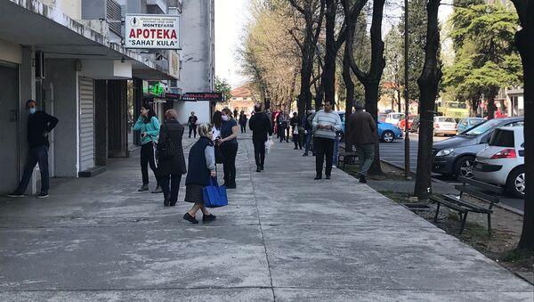 Red ispred apoteke u Podgorici - Sputnik Srbija