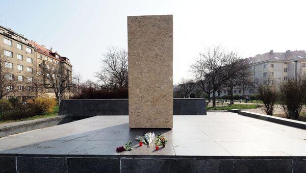 Место где се у Прагу налазио споменик совјетском маршалу Ивану Коњеву - Sputnik Србија