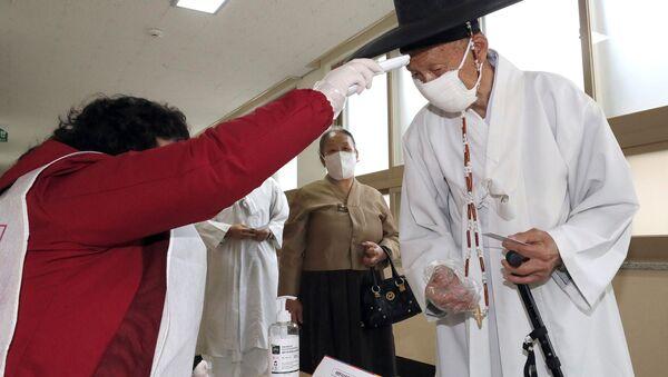 Парламентарни избори у Јужној Кореји у време епидемије вируса корона - Sputnik Србија
