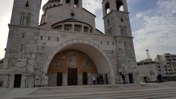 Hram Hristovog vaskrsenja u Podgorici u vreme uskršnje liturgije - Sputnik Srbija
