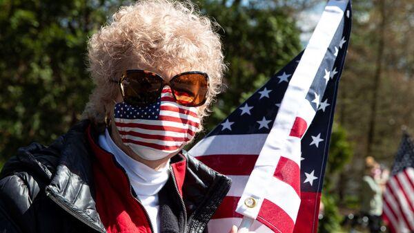 Protesti u SAD protiv mera karantina - Sputnik Srbija