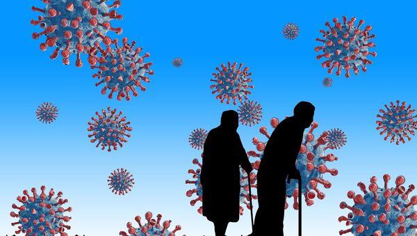 Вирус корона, пензионери, илустрација - Sputnik Србија