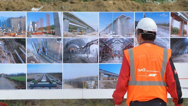 Železničko gradilište u Čortanovcima - Sputnik Srbija