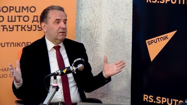 Ministar trgovine, turizma i telekomunikacija Rasim Ljajić u studiju redakcije Sputnjik Srbija - Sputnik Srbija