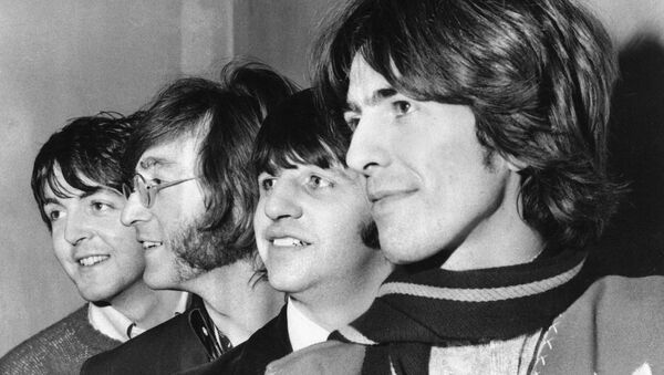 Bitlsi Pol Makartni, Džon Lenon, Ringo Star i Džordž Harison, 28. februara 1968. - Sputnik Srbija