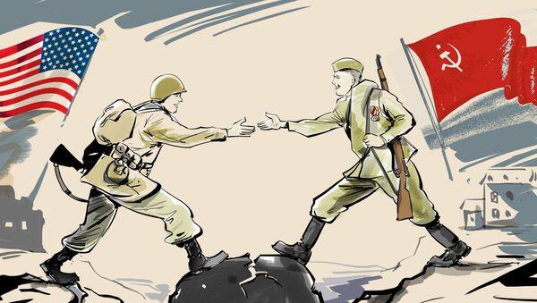 Дан сусрета Црвене армије и америчких трупа, који је значио крај нацистичке Немачке - Sputnik Србија