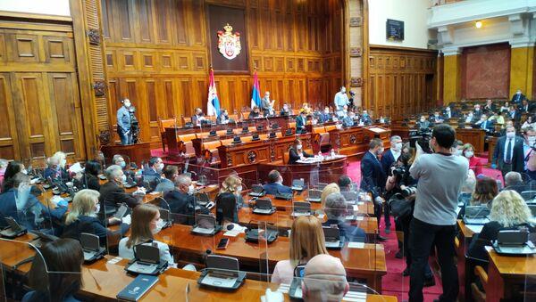 Predsednica Vlade Srbije Ana Brnabić u Skupštini Srbije - Sputnik Srbija