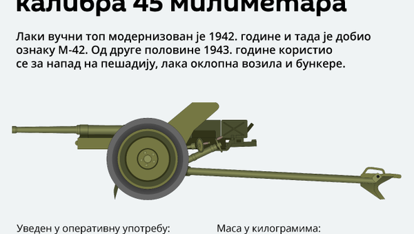 Protivtenkovski top 53-K  - Sputnik Srbija