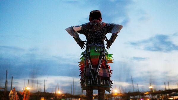 Devetogodišnja Indijanka iz plemena Navaho  - Sputnik Srbija