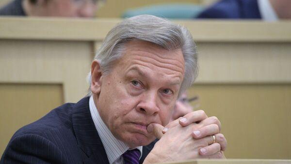 Члан Уставног одбора Савета Федерације Русије, сенатор Алексеј Пушков - Sputnik Србија
