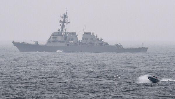 Američki ratni razarač Porter na vojnim vežbama u Baltičkom moru - Sputnik Srbija