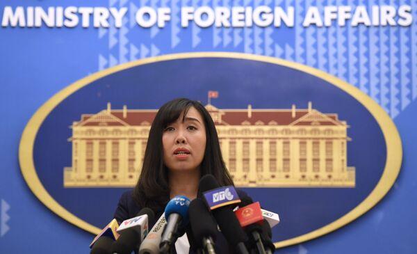 Портпаролка вијетнамског Министарства спољних послова Ли Ти Ту Ханг.  - Sputnik Србија