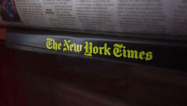 Лого листа Њујорк тајмс на киоску - Sputnik Србија