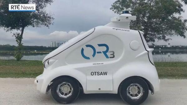 O-R3, robot koji održava distancu među ljudima - Sputnik Srbija
