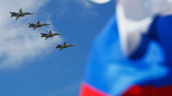 Bombarderi Su-24 na vazdušnoj paradi povodom Dana pobede u Kalinjingradu. - Sputnik Srbija