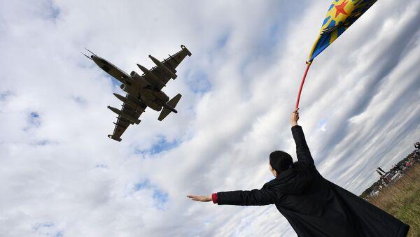 Су-25 на авио-спектаклу у част Дана победе на аеродрому Кубинка - Sputnik Србија