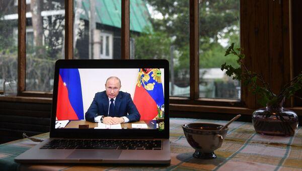 Prenos obraćanja predsednika Rusije Vladimira Putina - Sputnik Srbija