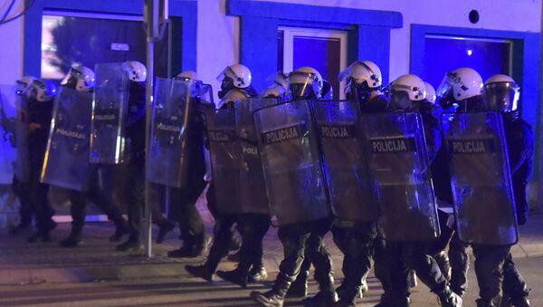 Кордон полиције у Никшићу, 13. маја, Црна Гора - Sputnik Србија