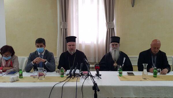 Конференција за штампу у никшићком Парохијском дому поводом хапшења владике Јоаникија - Sputnik Србија