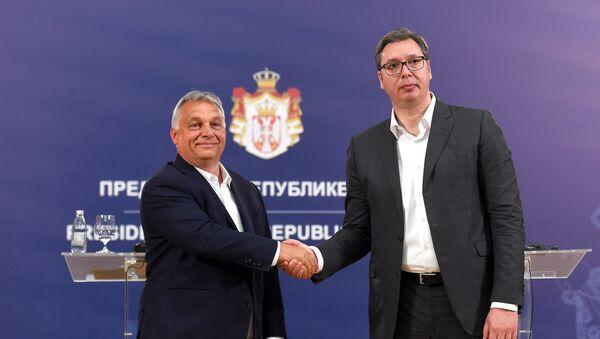 Sastanak Vučića i Orbana - Sputnik Srbija
