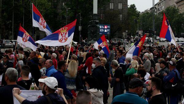 Skup podrške poslaniku Dveri Bošku Obradoviću - Sputnik Srbija