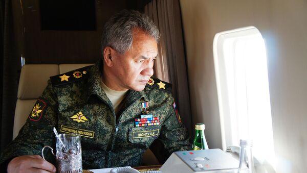 Министар одбране Русије Сергеј Шојгу на војним вежбама Восток 2018 - Sputnik Србија