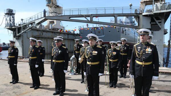 Фрегата Адмирал Головко на бродоградилишту у Санкт Петербургу - Sputnik Србија