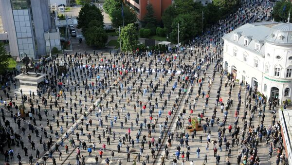 Protest Samoopredeljenja u Prištini. - Sputnik Srbija