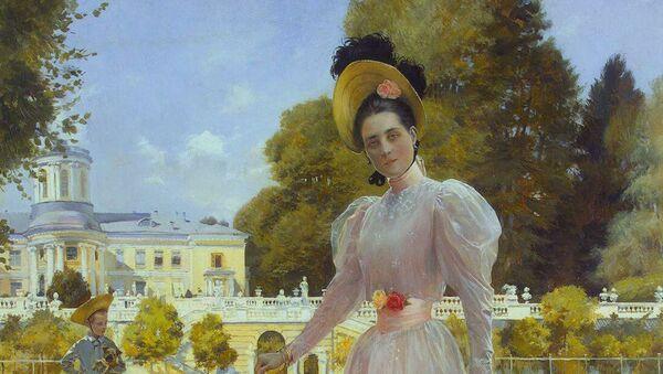 F. Flameng. Kneginja Jusupova ispred svog dvorca Arhangelskoe - Sputnik Srbija