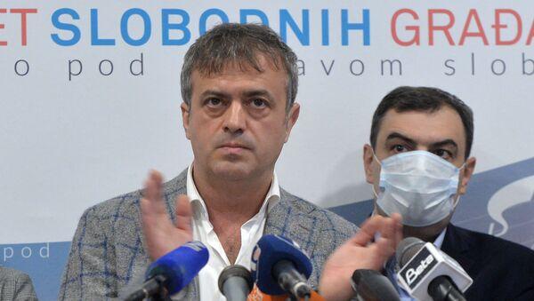 Predsednik Pokreta slobodnih građana Sergej Trifunović  - Sputnik Srbija