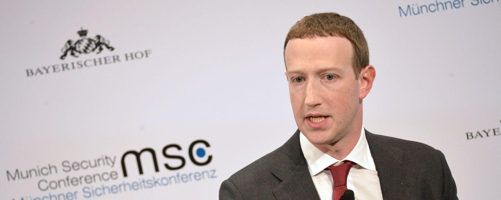 Mark Cukerberg, osnivač Fejsbuka - Sputnik Srbija, 1920, 04.10.2021