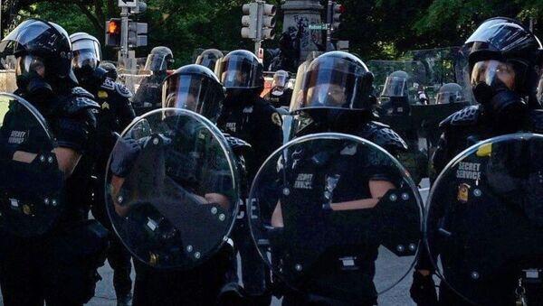 Pripadnici vojne policije na protestu u Vašingtonu - Sputnik Srbija