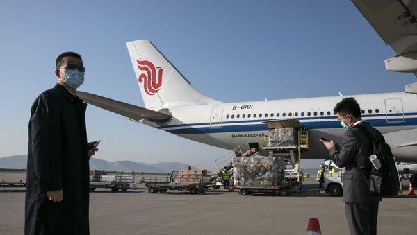 Самолет Air China в Афинском аэропорту - Sputnik Србија