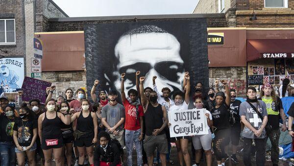 Протести у САД на месту убиства Џорџа Флојда - Sputnik Србија
